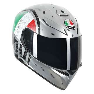 AGV  K-3 K3 SV Camo Scudetto Silver Edition SIZE  Medium Large ONLY Adult Full Face Motorcycle Motorbike Superbike Sports Bike Helmet