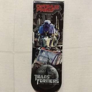 Official Transformers: Dark Of The Moon Movie Merchandise - Optimus Prime Magnetic Bookmark