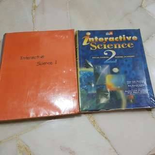 Ineractive science sec1 and 2 books