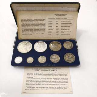 1977 Jamaica Proof coin set, minted by Franklin Mint-With Original box and COA