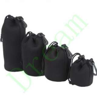 Dream Lens Pouch, 4 Pieces Thick Protective Neoprene Pouch/ Bag/ Case Set for DSLR Camera Lens