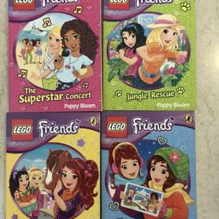 Set of Four : LEGO Friends books: Superstar Concert, Jungle Rescue, Sunshine Ranch, Heart Lake Adventure