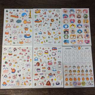 [BN] Cute Rabbit Stickers (Holiday Ver)