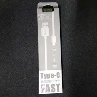 Type C數據充電二合一(一米長) 線