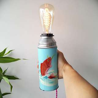 Vintage CK Tangs Flask Touch Lamp