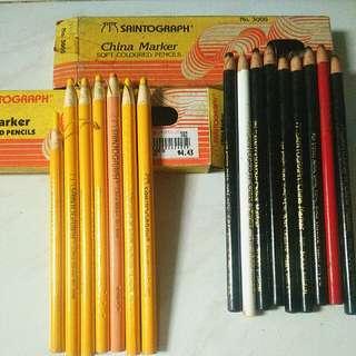 Saintograph China Marker Soft Colour Pencils (16)