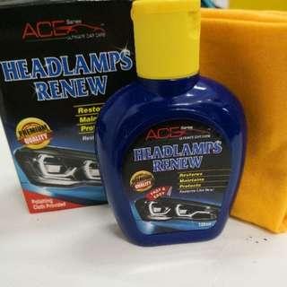 Headlamps renew with FOC 1pc Polishing cloth