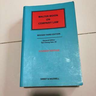 Company law by Walter Woon (Revised third edition) (student edition)