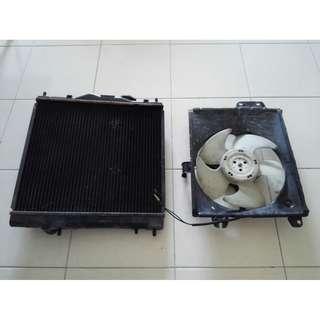 Radiator set untuk Proton Wira 1.3L & 1.5L (4G13 & 4G15)