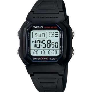 CASIO Digital watch 10-YEAR BATTERY W-800H-1A