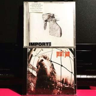 Pearl Jam Coldplay CD