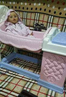 Fisher Price Baby doll crib & wash station
