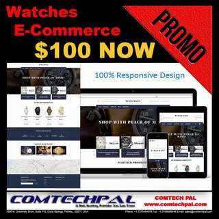 Watches E-Commerce Website + Hosting