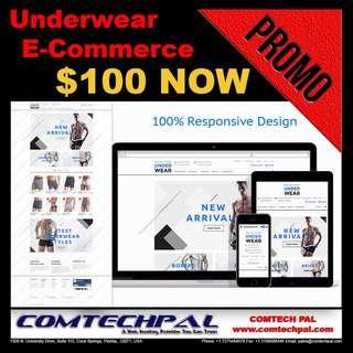Underwear E-Commerce Website + Hosting