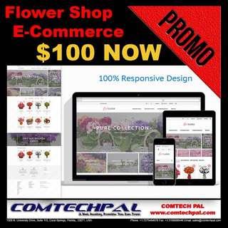 Flower Shop E-Commerce Website + Hosting