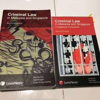 Criminal law in Malaysia and Singapore, textbook and casebook (Second Edition) Stanley Yeo Neil Morgan Chan Wing Cheong