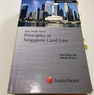 Principles of Singapore Land Law, Student Edition, Tang Zhang Wu and Kelvin FK Low