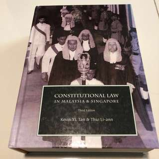 Constitutional law in Malaysia and Singapore (Third Edition) Kevin KL Tan and Thio Li-Ann Hardcover