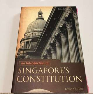 Introduction to Singapore's constitution, Kevin Y L Tan