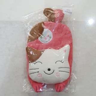 Cute Pink Kitty Key Pouch