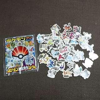 BNIP 50 Pokemon Sun & Moon Stickers