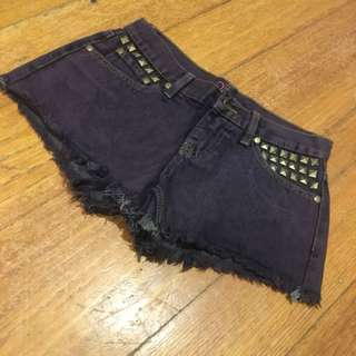 Purple stud short