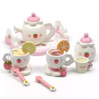 BN Strawberry Afternoon Tea Pot Toy Set w/Serving Tray