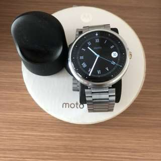 Moto 360 (Gen 1) 鋼帶 智能手錶 smart watch