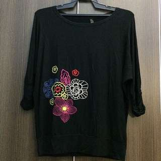 Casual Top Blouse Shirt Embroidered