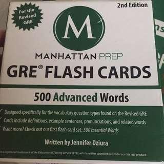 Manhattan Prep GRE flash cards 500 advanced words