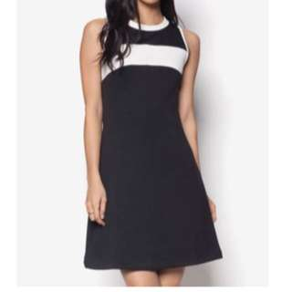 Black A line dress fabric do not require ironing