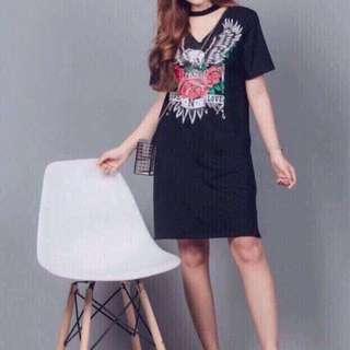 Choker Dress Comfortable Loose Dress