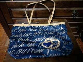 Coach denim handbag ( original )
