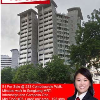 Good-sized HDB 5 room at Compassvale Walk for sale!