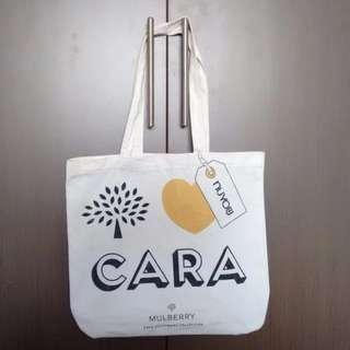 Cotton Tote Bag - White - Golden