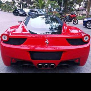 Ferrari 458 Italia for rent!
