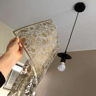 吊燈,金色紐花 ceiling light