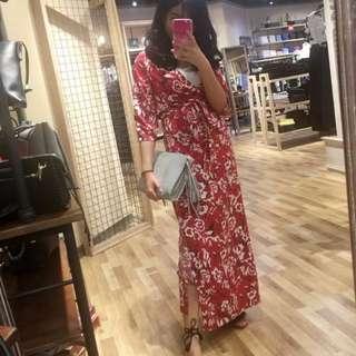 Floral Dress- flexi/ maternity
