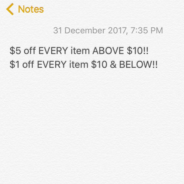 2017 discounted sale 🔥
