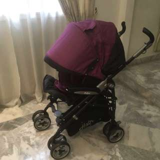 Halford S8 stroller in Purple