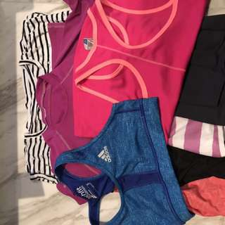 Girls Sports wear & swim rash guard & T shirts