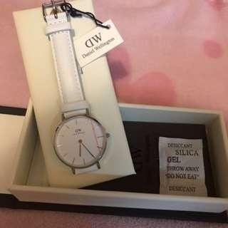 Daniel Wellington DW 100%全新 女裝白色手錶