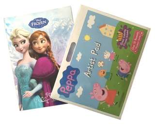 Peppa pig and Frozen Colouring Stickers Book