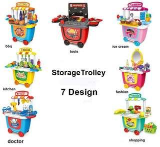 7 storage trolley