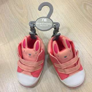 Mothercare pink bunny pram shoes
