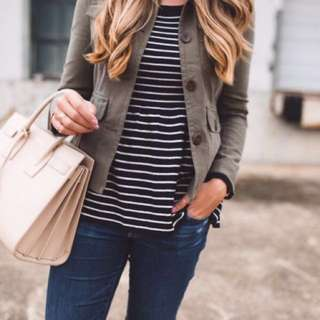 Nordstrom Stripe Peplum Sweater