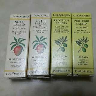 🚚 義大利蕾莉歐L'ERBOLARIO乳果/橄欖滋潤護唇膏