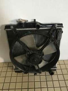 Recond radiator set with fan motor fpr Honda civic eg