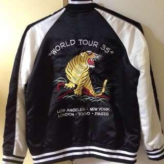 Size 8: New Stussy World Tour Bomber Jacket
