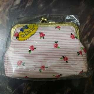 NaRaYa 淺粉紅橫紋玫瑰花散紙包